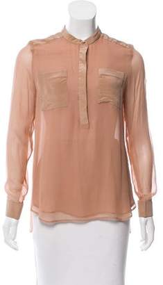 3.1 Phillip Lim Silk Long Sleeve Top