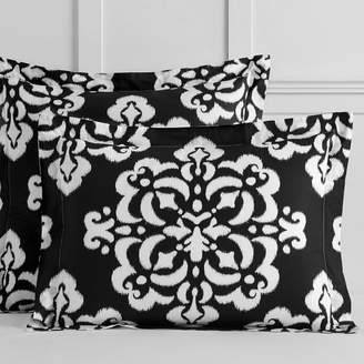 Pottery Barn Teen Ikat Medallion Sham, Standard, Black
