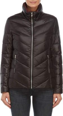 Lauren Ralph Lauren Chevron Packable Down Short Jacket