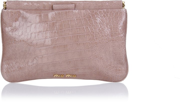 Miu Miu Croc Optic Clutch