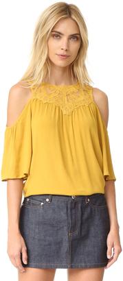 Ella Moss Olivier Cold Shoulder Blouse $148 thestylecure.com