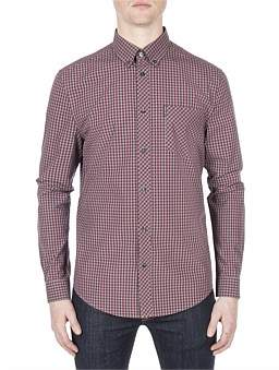 Ben Sherman Long Sleeve Core Brushed Gingham
