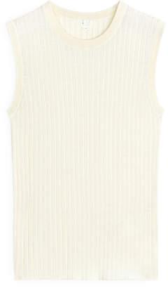 Arket Silk Cotton Knitted Top