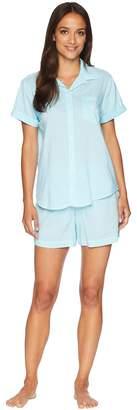 Lauren Ralph Lauren Camp Shirt Boxer Pajama Set Women's Pajama Sets
