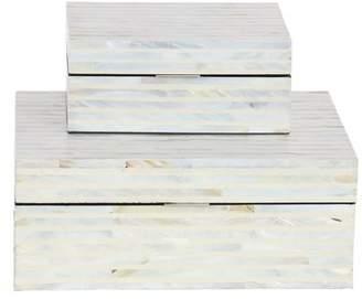 MOP Cole & Grey Wood 2 Piece Decorative Box Set