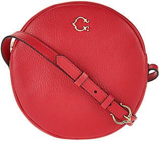 C. WonderC. Wonder Round Canteen Leather Crossbody Handbag