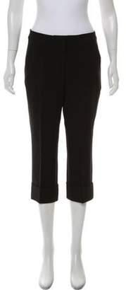 St. John Cropped Mid-Rise Pants Black Cropped Mid-Rise Pants