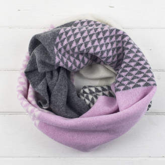 Miss Knit Nat Triangle Knitted Circle Scarf