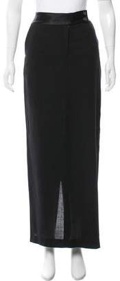 Alexander Wang Satin-Trimmed Maxi Skirt
