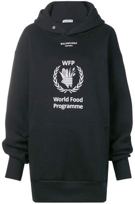 Balenciaga WFP embroidered oversized cotton hoodie