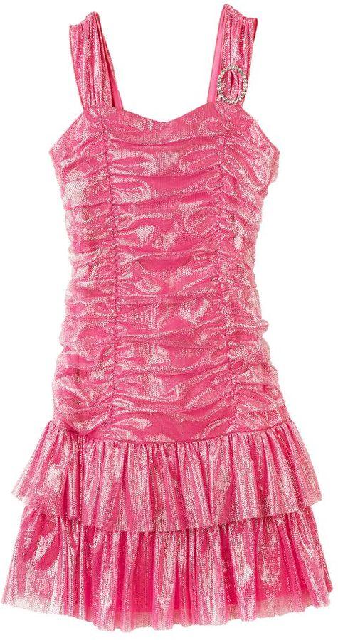 Amy Byer Iz ruched tutu dress - girls 4-6x