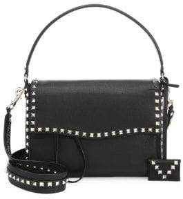 Valentino Studded Large Leather Shoulder Bag