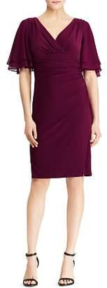 Ralph Lauren Flutter-Sleeve Jersey Dress