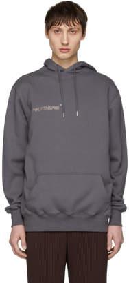 Polythene* Optics Grey Logo Vertical Hoodie