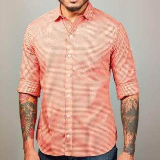 Blade + Blue Tonal Orange Gingham Shirt - Phil