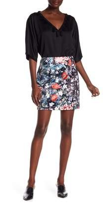 MinkPink Botanica Satin Mini Skirt