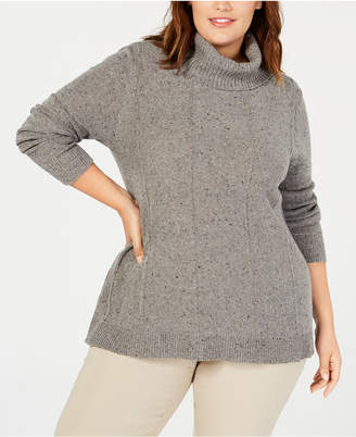 Belldini Belle by Plus Size Turtleneck Tunic Sweater