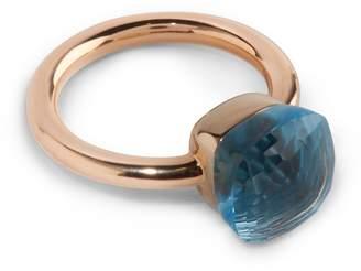 Pomellato Rose Gold, Agate and Blue Topaz Nudo Ring