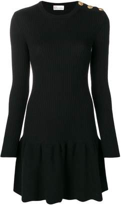 RED Valentino peplum mini dress