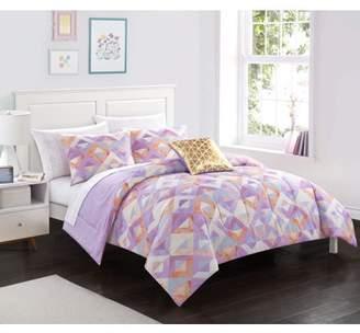 Your Zone Tie Dye Purple Geo Bed in a Bag