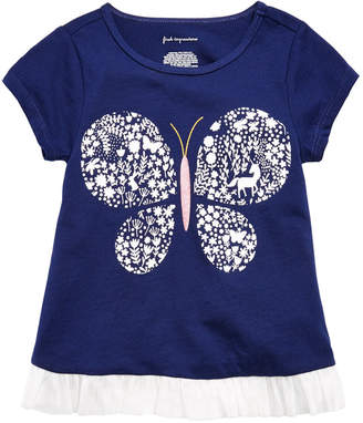 First Impressions Toddler Girls Butterfly-Print T-Shirt