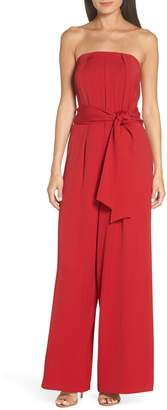 EVER NEW Strapless Crepe Jumpsuit