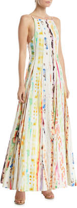 Rosie Assoulin Million Pleats Watercolor Rainbow Dress