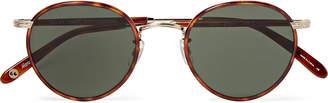 Garrett Leight California Optical - Wilson 49 Round-Frame Tortoiseshell Acetate and Gold-Tone Sunglasses - Men - Tortoiseshell