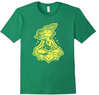 Neon Yellow Krishna Tee Shirt