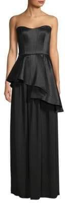 Lanvin Asymmetric Peplum Gown