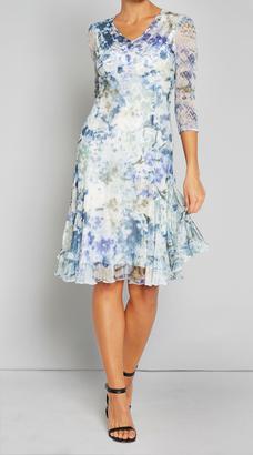 3/4 Sleeve V Neck Dress $308 thestylecure.com