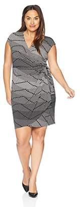 Lark & Ro Women's Plus-Size Classic Cap-Sleeve Wrap Dress