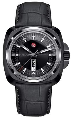 Rado HyperChrome 1616 Leather Band Watch, 46mm