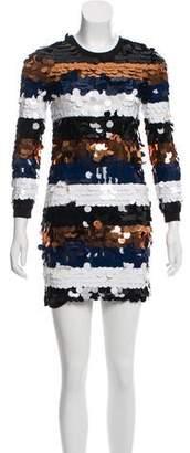 Sonia Rykiel Wool Sequin Mini Dress