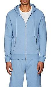 Derek Rose Men's Devon Cotton Terry Hoodie - Blue