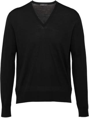 Prada knitted v-neck sweater