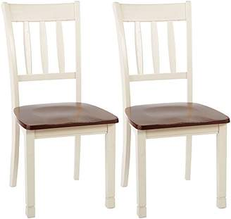 Signature Design by Ashley Ashley Furniture Signature Design - Whitesburg Dining Room Side Chair Set - Vintage Casual - Set of 2 - Two Tone