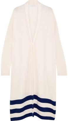 Rosetta Getty Striped Cashmere Cardigan - White