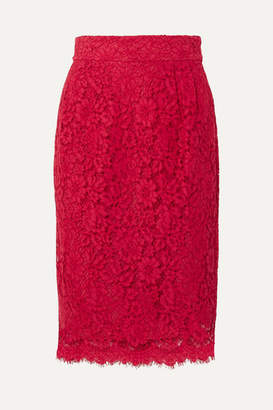 J.Crew Lace Pencil Skirt - Red