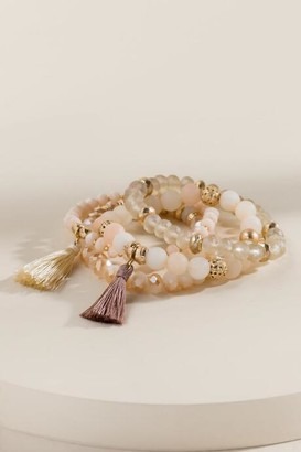 francesca's Amelia Stretch Bracelet Set - Natural