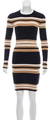 Torn By Ronny Kobo Striped Sweater Dress