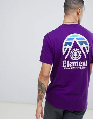 Element Tri Tip Back Logo T-Shirt in Purple