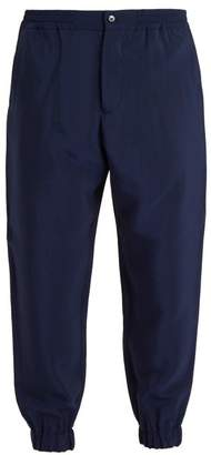 Etro Elasticated Waist Twill Trousers - Mens - Navy
