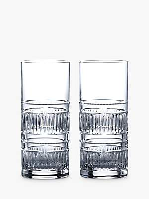 120c7f98d10c Royal Doulton R&D Collection Radial Crystal Cut Glass Highballs, 320ml, ...
