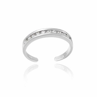 Top Seller CZ Channel-Set Sterling Silver Toe Ring