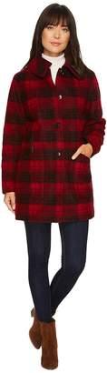 Pendleton Plaid Club Collar Coat Women's Coat