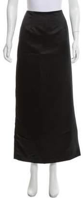 Nicole Miller Satin Midi Skirt