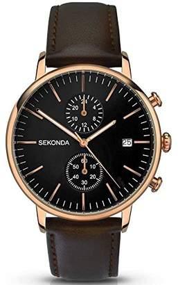 Sekonda Unisex-Adult Analogue Classic Quartz Watch with Leather Strap 1380.27