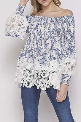 Petalroz Lace Printed Blouse