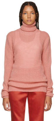 Nina Ricci Pink Mohair and Wool Turtleneck